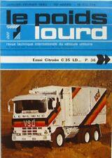Le Poids Lourd n°775 -776   - 1980 - Fourgon Citroën C35 LD  - Autocars