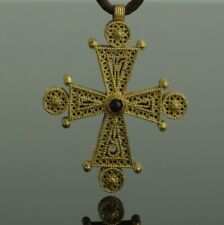 SUPERB ANCIENT BYZANTINE GOLD & GARNET CROSS CIRCA - 9th Century AD   (502)