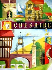 Viajes De Cheshire Bretaña Ferrocarril Inglaterra arte cartel impresión lv4026