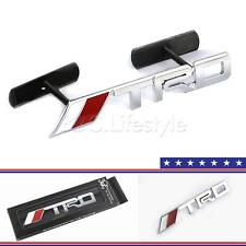 Auto 3D Metal Chrome Silver TRD Front Grille Grill Badge Emblem Fit for Toyota