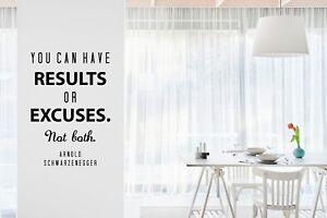 Arnold Schwarzenegger MOTIVATIONAL Wall Decal Quote Art Home Workout Gym Decor