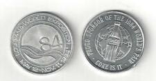 1984 COKE COCA COLA BOTTLE LOUISIANA WORLD EXPO COIN TOKEN MEDALLION NEW ORLEANS