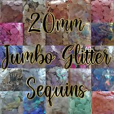 20mm Jumbo Glitter Sequins - Mermaid Stitch Sew Giant