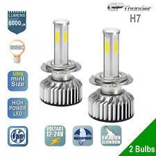 2x H7 4-Sides Shortest LED Headlight Kit Low High Beam Light Bulb 6000K White