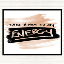 Watercolour Take A Ride On Energy Quote Mouse Mat Pad