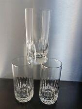 3 Gläser Whiskybecher Orangeade Kristall St Louis Signiert Old Crystal Glas