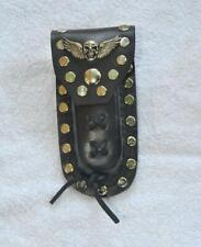 Buck 110 Leather Knife Case -  Skull with Wings Concho