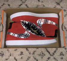 Nike Ben Simmons Blazer Mid PRM Shoes Red/Suede Plaid CJ9782 600 Men's Sz 9.5