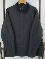 BARBOUR Size Large Mens Putney Sportsquilt Full Zip Jacket Coat Black Corduroy