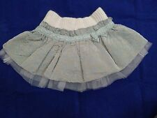 BNWT Monnalisa baby girl pink and grey skirt size 6 months