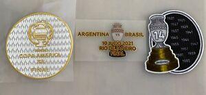 Copa America 2021 final game jersey patch set - Argentina