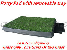 Portable Indoor Pet Dog Puppy Potty Training Toilet Large Loo Pad Tray Grass