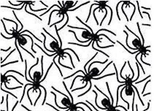 Clip on Spiders 24pk Black Plastic - Halloween Party Favour Supplies Decoration
