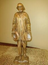 Hand Carved Wood Statue Of A Man