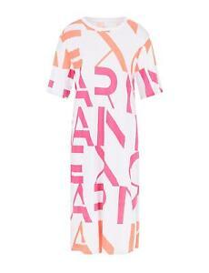 AX Armani Exchange - Vestito Donna Bianco Logo Abito