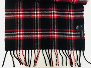 NWOT Dsquared Plaid 100% Wool Fringed Scarf Made In Italy