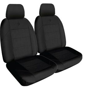 Front Black Seat Covers Fits Toyota, Mazda, Nissan, Holden, Hyundai And More
