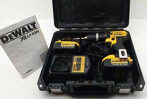 Dewalt 14.4V DCD735 XR Drill 2 X 4.0 AH Batteries, Charger & Case