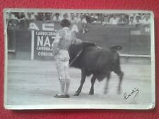 ANTIGUA FOTO PHOTO IMAGEN FOTOGRAFÍA TOROS TOREO TORERO BULLFIGHTING EN LA PLAZA
