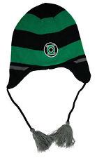 Beanie Green Lantern Flap Green/Black Logo