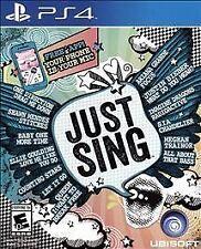 NEW Just Sing  PlayStation 4 PS4 Kids Family Karaoke Simulation Game Region Free
