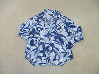 Tommy Bahama Button Up Shirt Womens Large Blue Long Sleeve Casual Ladies A08