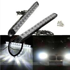 2x 12LED Blanco Flexible Coche DRL Diurna Conducción Luz Lámpara Luz de Niebla 12V