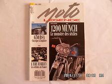 MOTO LEGENDE N°25 05/1993 1200 MUNCH 650 BSA HARLEY HONDA 125  I14