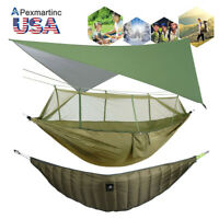 2 Person Camping Hammock Warm Length Under Quilt Blanket Rainfly Cover Tent Tarp
