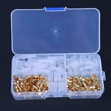 240pcs Set Brass Bullet Connector Wire Terminal Male & Female Covers 3.5mm Gold