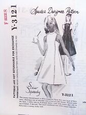 1960s Spadea Y 3121 Vintage Dress Sewing Pattern Sew Speedy Size 8 B33 Uncut