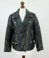 BDG Black Faux Leahter Jacket size M