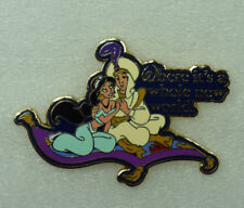 Disney Where Dreams Come True Card Collection 2 Pin Set Aladdin & Jasmine Pin