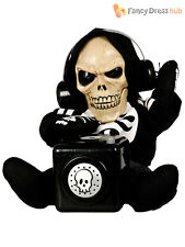 Skeleton DJ Halloween Party Prop Music Decoration Lights Sound Animated Funny
