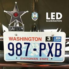 Safety Star Chromed License Plate Topper Red LED Illumination fits kdf samba vw