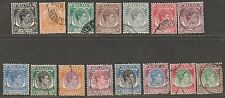 S'pore KGVI 15V definitive 1948 complete set  used  # A 24