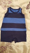 GAP 100% Cotton Striped Boys' Babygrows & Playsuits (0-24 Months)