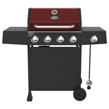 New 4-Burner Gas Grill with Side Burner Red Sedona, Outdoor Cooking Bbq