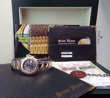 ROLEX - Ladies YachtMaster 18kt Gold & SS Slate Index Rehaut 169623 SANT BLANC