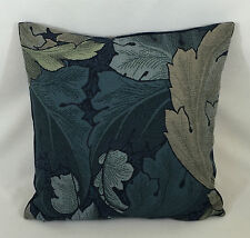 "William Morris Acanthus Tapestry Indigo/mineral Cushion Cover  18"" x 18"""