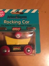 BRIO 33228  Wooden Train Rocking Car with Passenger  NEW