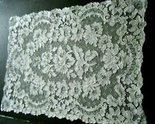 "Old Vtg Alencon lace dresser toper rectangular shape 16""x12"" Europe"