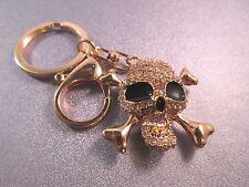 Rhinestone Skull Charm Keychain 1pc