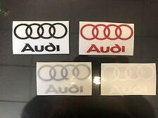 2 adesivi prespaziati logo replica audi  - vari colori