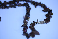 Stunning Brown Semi Precious Real Stones Necklace 1980'