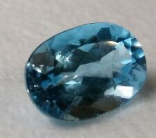 5.8 Ct Bright Deep NATURAL London Blue Topaz Beautiful Oval Cut 13X10  Color AAA