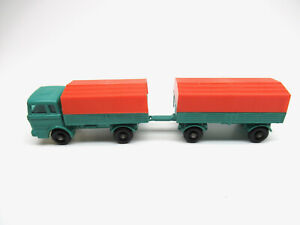 MATCHBOX LESNEY #1 #2 MERCEDES TRUCK AND TRAILER COMBO NM