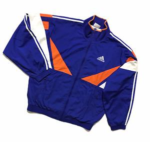 Mens Adidas Vintage 90s Tracksuit Windbreaker Track Top Shell Jacket M