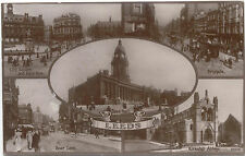Leeds Multiview City Square Boar Lane Briggate Kirkstall Abbey Posted 1922