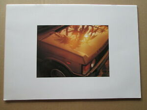 .Range Rover brochure RR375 1986. Land Rover.4 x 4 brochure.